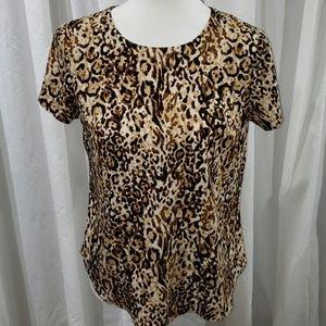 NWOT Leopard Print Blouse